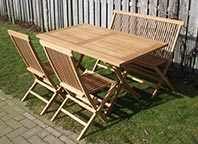 tuinbank teak assortiment tuinset